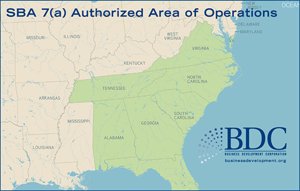 SBA 7(a) Authorized Area of Operations