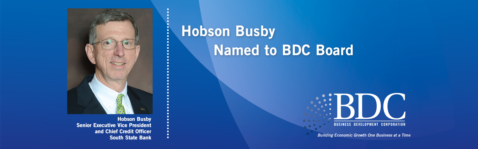 Hobson Busby Named to BDC Board