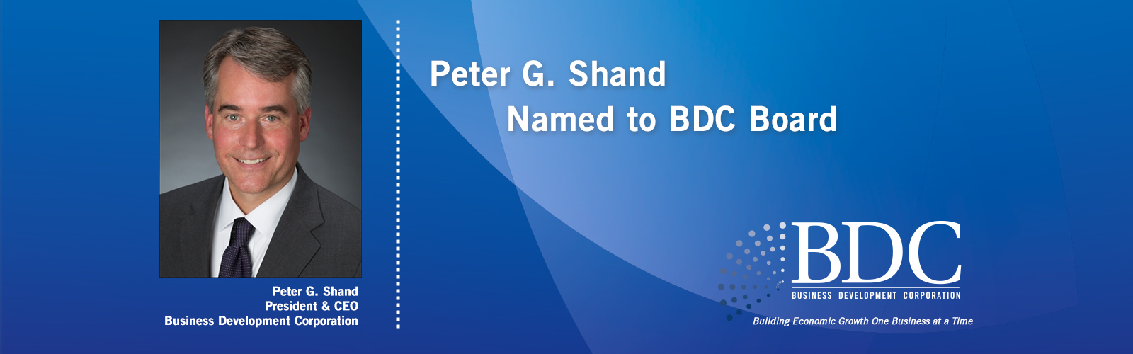 Peter G. Shand Named to BDC Board